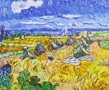 Copy of van Gogh's. Haystack and Reaper, 1890. Vlodarchik Andjei