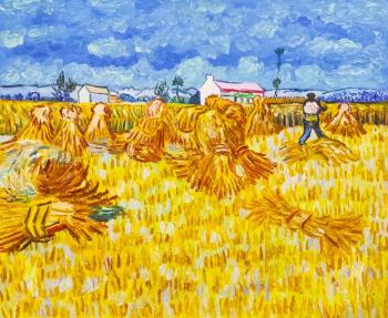 A copy of Van Gogh's. Harvesting in Provence. Vlodarchik Andjei