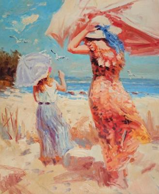 On the beach. Minaev Sergey