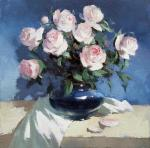 Pryadko Yuri. Roses on blue