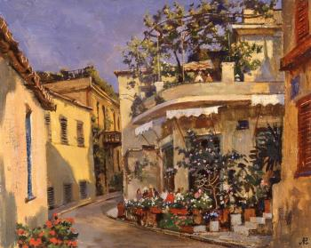 Lapovok Vladimir. Athens. Cafes in the old town