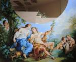 "Copy of the picture Natyuara ""Ariadna and Bacchus"" painting of a caisson. Simonova Olga"