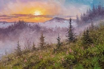Volya Alexander. Sunrise in the foothills