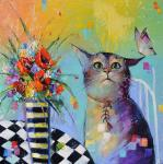 cat and butterfly. Moiseyeva Liana