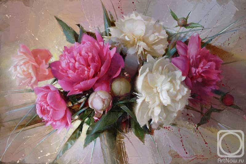 Gappasov Ramil. Composition with peonies