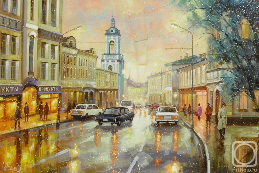 Boev Sergey. Old Moscow. Evening on Pyatnitskaya