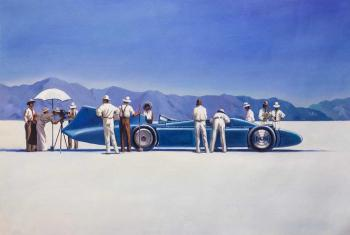 Copy of Jack Vettriano's. Bluebird At Bonneville. Kamskij Savelij