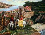 Klenov Sergey. Horse ride in Tossa de Mar