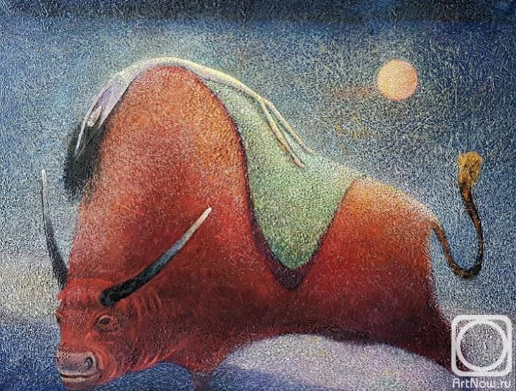 Картина маслом на холсте. Сипрошвили Гиви. Похищение Европы