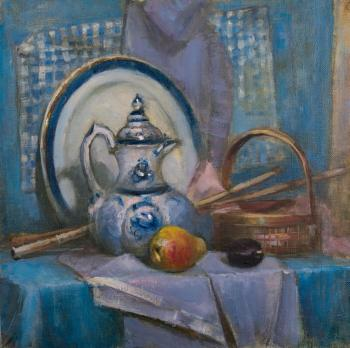 Pevzner Natalia. Still life with gzhel