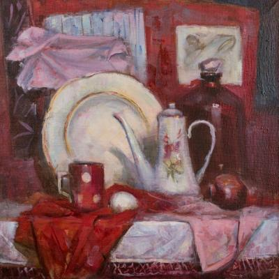 Still life in Red Colours. Pevzner Natalia