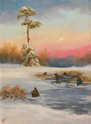 Lyamin Nikolay. Winter fishing on the lake