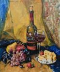 Simonova Olga. Still-life with a glass of wine