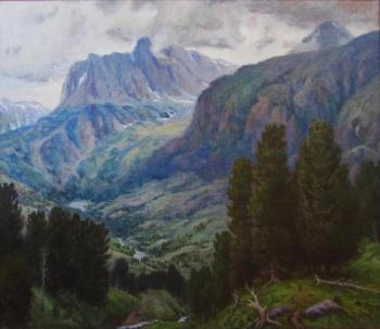 Mountain valley view. Rudin Petr