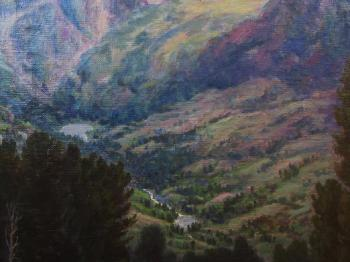 View of the mountain valley. fragment