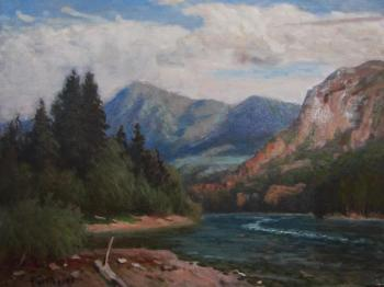 Rudin Petr. On The Katun River. Altai