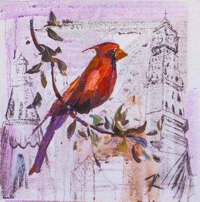 Red Cardinal. Visiting the Queen. Rodries Jose