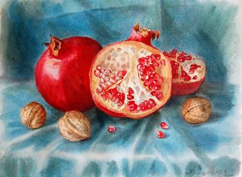 Krasnova Yulia. Pomegranates and Nuts