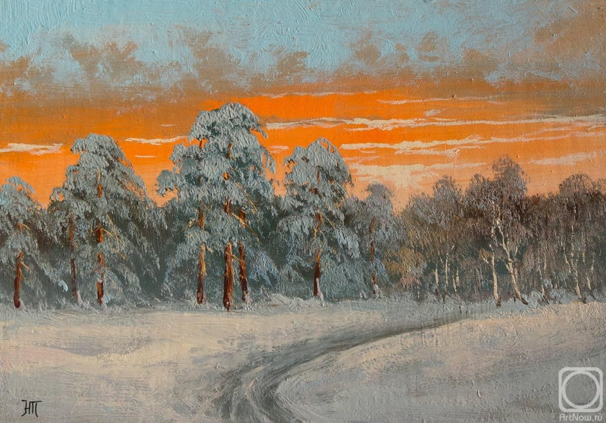 Lyamin Nikolay. Orange sunset