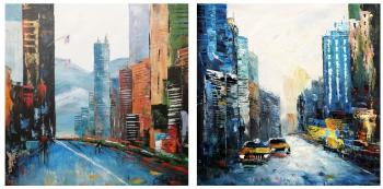 New York, I love that city (New York, I love this city). Diptych. Vevers Christina
