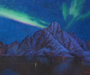 Northern Lights over the Lofoten. Panov Igor