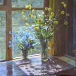 Rubinsky Pavel. flowers on the veranda