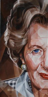 The Iron Lady. Cubo-futurism. Krotkov Vassily