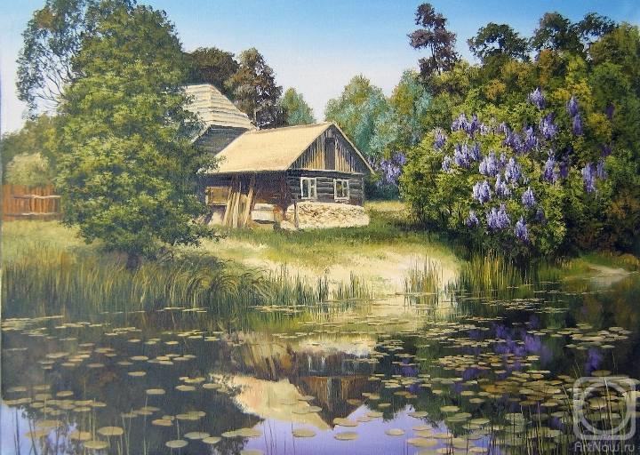 тому, что домики у озера месяц над домами стихи рассказ