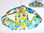 "Lampshade from openwork glass ""Summer Noon"" glass fusing"