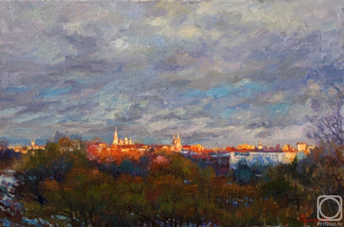 Rodionov Igor. April evening on the town