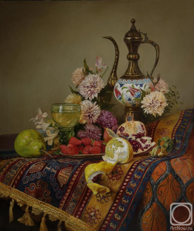 Panov Eduard. Still life with Oriental jar