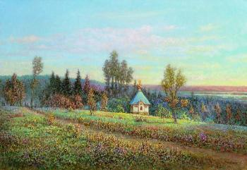 Panin Sergey. Landscape with a chapel