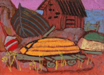 Ovchinnikova Alexandra. Shed and boats
