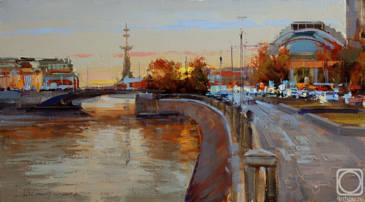 Shalaev Alexey. Twilight. Moscow, view of the Small Stone Bridge