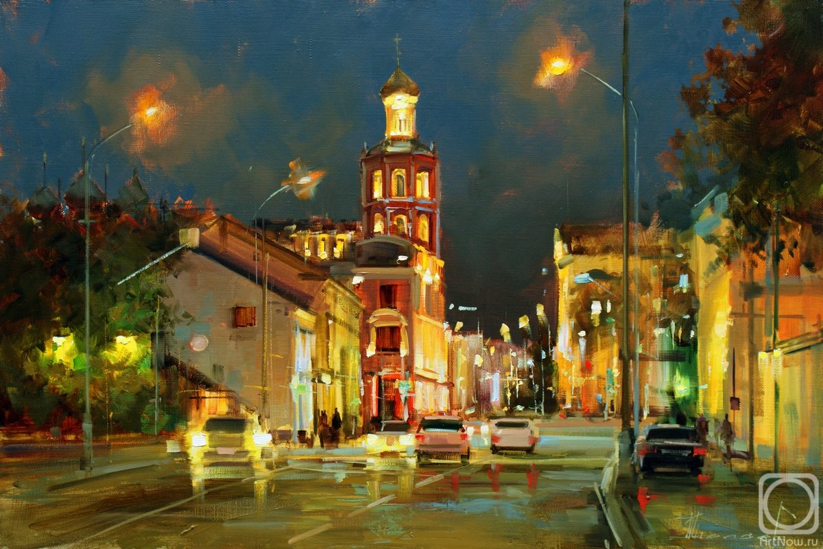 Shalaev Alexey. Late evening at Petrovka. Moscow
