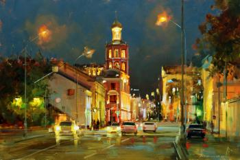 Late evening at Petrovka. Moscow. Shalaev Alexey