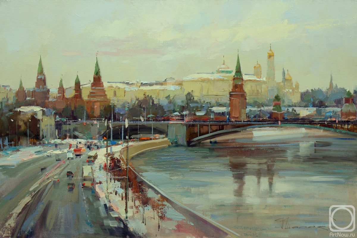 Shalaev Alexey. Moscow. Winter on Borovitsky Hill
