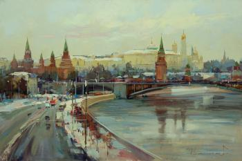 Moscow. Winter on Borovitsky Hill. Shalaev Alexey