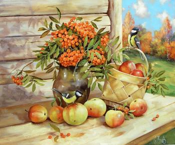 Still life with apples. Boev Sergey