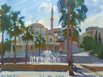 Durres, mosque, main square, fountain. Dobrovolskaya Gayane