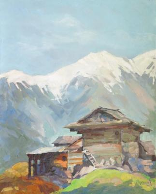Vedeshina Zinaida. The Himalayas. Alpine village