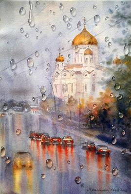 Krasnova Yulia. Autumn through the drops