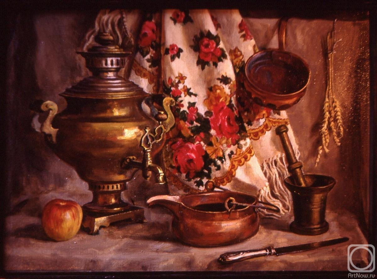 Lapovok Vladimir. Still life with a samovar