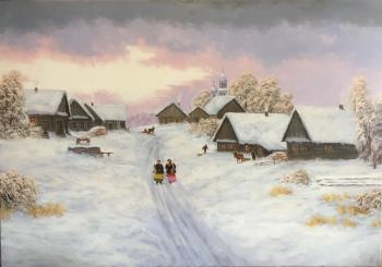 Russian landscape, winter