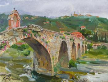 Kharchenko Victoria. Taggia. The stone bridge