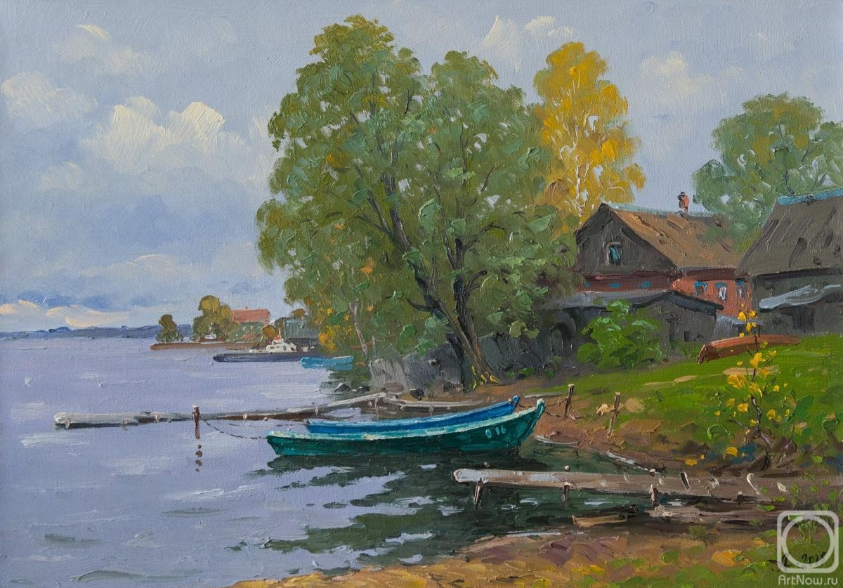 Alexandrovsky Alexander. Boats on Lake Seliger
