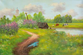 Lyamin Nikolay. Summer day in the village