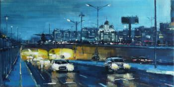 Silantyev Vadim. And when the city is blue