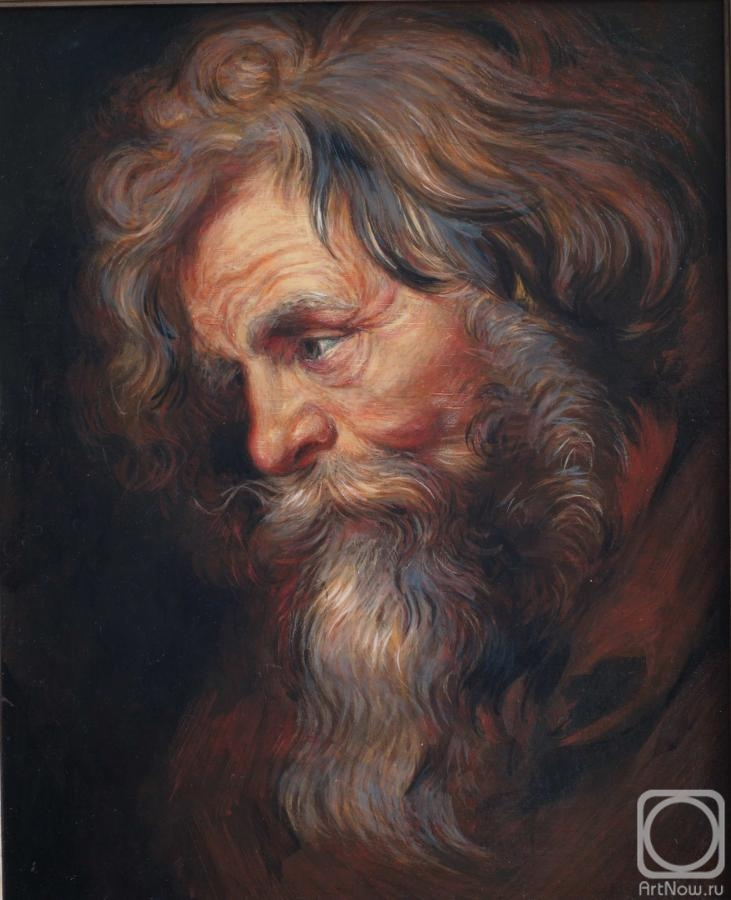 "Simonova Olga. Rubens's copy ""Head of the old man"""