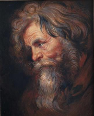 "Rubens's copy ""Head of the old man"". Simonova Olga"
